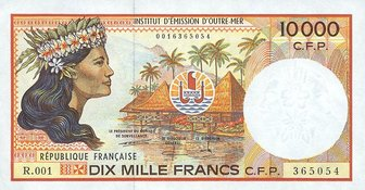 The Currency Name Of French Polynesia New Caledonia Wallis And Futuna Is Cfp Franc